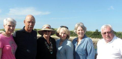 Cape Cod, Aug., 2017 LHS Mini Reunion, Elaine Stopyra, Peter Bergin, Jackie Sahagian, Ann Connell, Lesley Marvin, Bobby Coyne.