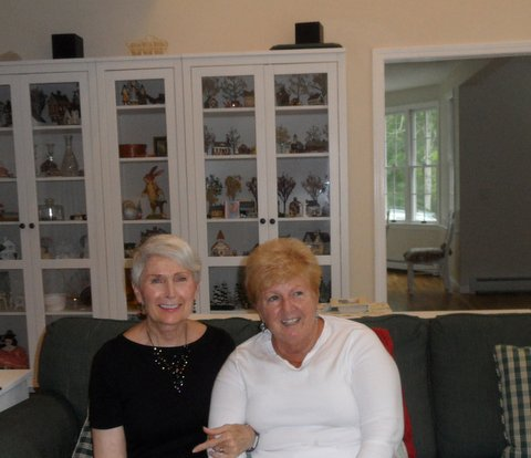 Cape Cod, August, 2017, Jackie, Elaine, and one of Ann Connell's collection at Ann's new home.